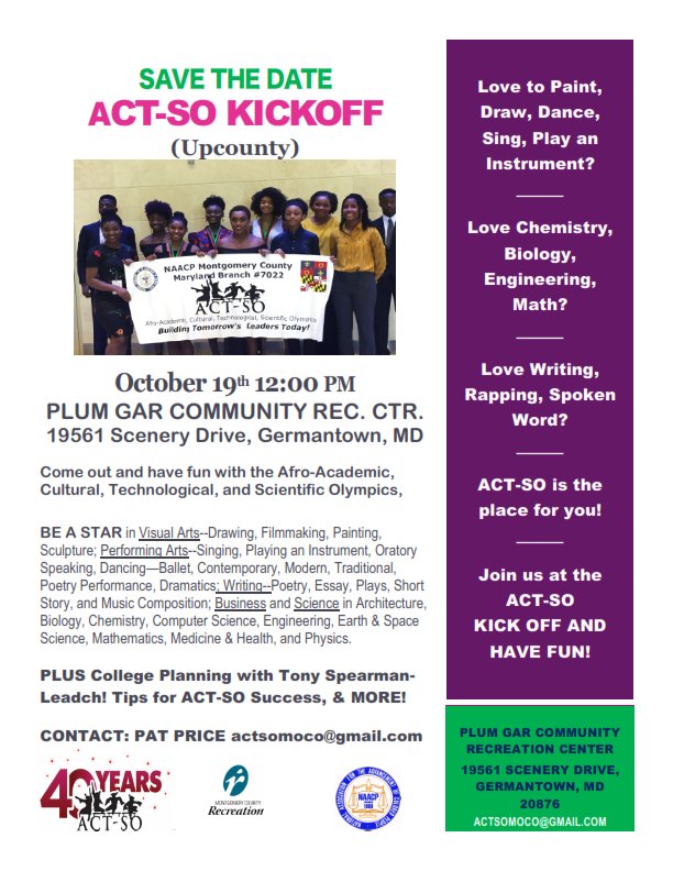 ACT-SO KICKOFF 2019